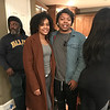 Demetria McKinney and Jvy Brown on the set of Saints and Sinners - February 1, 2018
