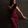 Demetria McKinney on the set of Saints and Sinners - April 5, 2019