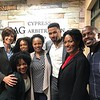 Eaddy Mays, Demetria McKinney, Maura Gale, Karon Riley, Kron Moore and Keith Robinson on the set of Saints and Sinners - March 30, 2019