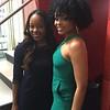 Jamillah and Demetria McKinney on set of The Ladies Room - Centric TV - January 15, 2016