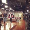 Demetria McKinney on the set of the Rickey Smiley Show