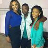 Demetria McKinney, Ray J and Ajiona Alexus on set of the 'Rickey Smiley Show'