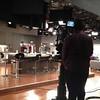 Rickey Smiley & Demetria McKinney on the set of the Rickey Smiley Show