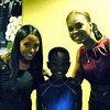 Keshia Knight Pulliam, Niles Fitch & Demetria McKinney on set of House Of Payne