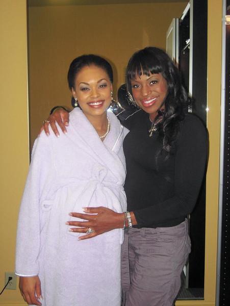 Demetria & Ms. Kinnik Sky (Nurse Jones) Dee Dee wasn't really pregnant