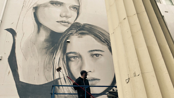 Short film of Australian street artist RONE doing a giant mural in Brighton whilst on his European tour.  Directed, shot and cut by Nick Sneath