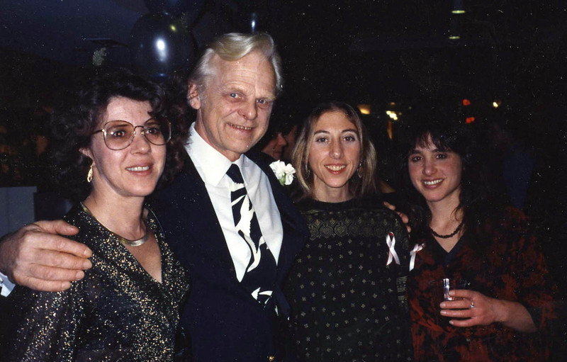1992 Dietrich honored, annual Indep Wkly Gala (Joanne,Dietrich,Courtney,Karin)