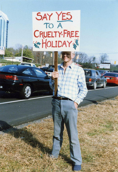 Late 1990s Dietrich on Fur-Free Friday near South Square Mall, Durham {Courtney Aman}