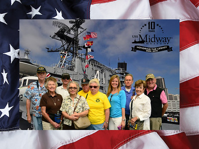 Romeo Group Visit the USS Midway