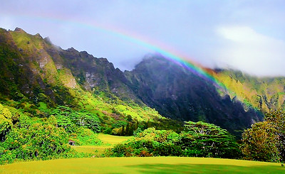Rainbow on Oahu