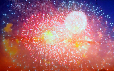 Fireworks from DC on TV