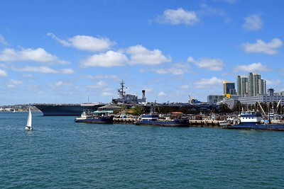 Approaching the USS Midway