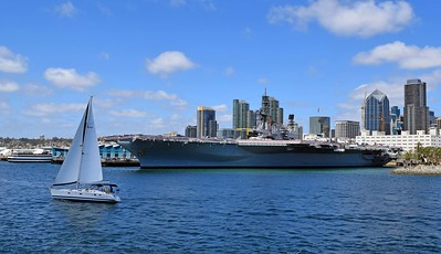 USS Midway Port View