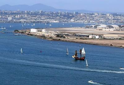 San Salvadore sails past North Island  Naval Air Station