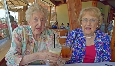 Diane Roland & Jean Mabie longtime friends enjoy birthday lunch