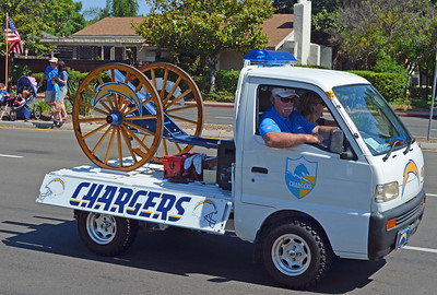 "Parade ""Kicks Off"" with the 1973 Chargers' Cannon"