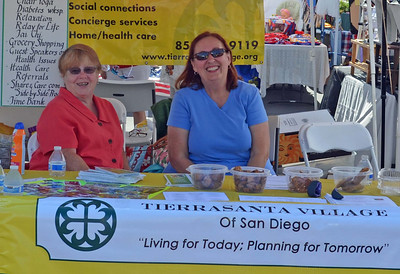 Nancy and Candy at Tierrafest TVSD booth