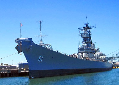 Port Bow View of the USS IOWA