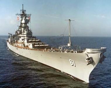 IOWA at sea in the 1980s