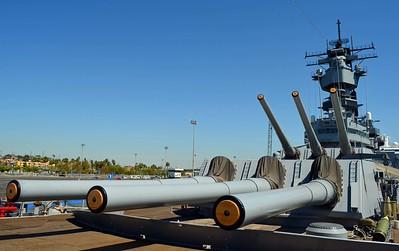 Port View of the Massive Guns