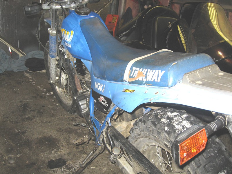 1989 Yamaha TW 200 Trailmaster - as purchased in 2009.