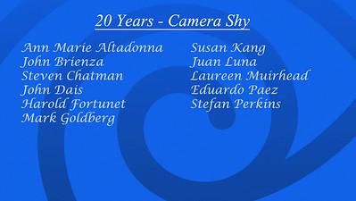 Shy List 20 Years