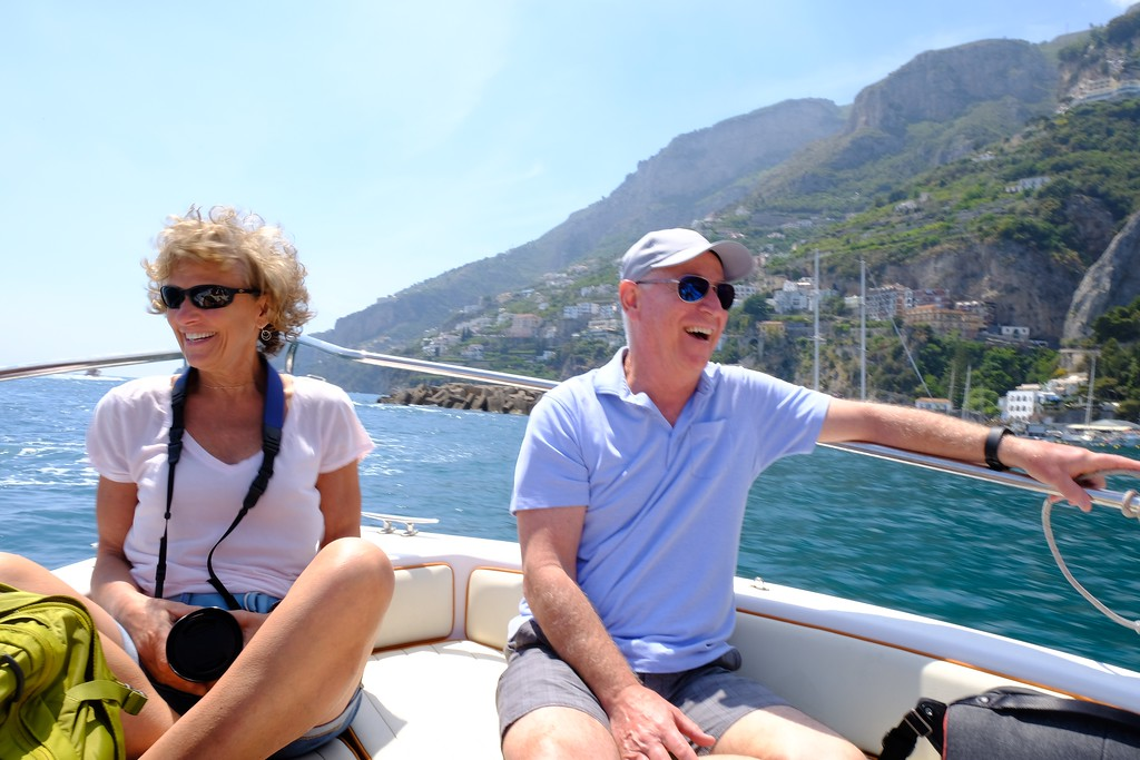My good friend Bruce and I enjoying an afternoon along the Amalfi Coast. Pinch me.
