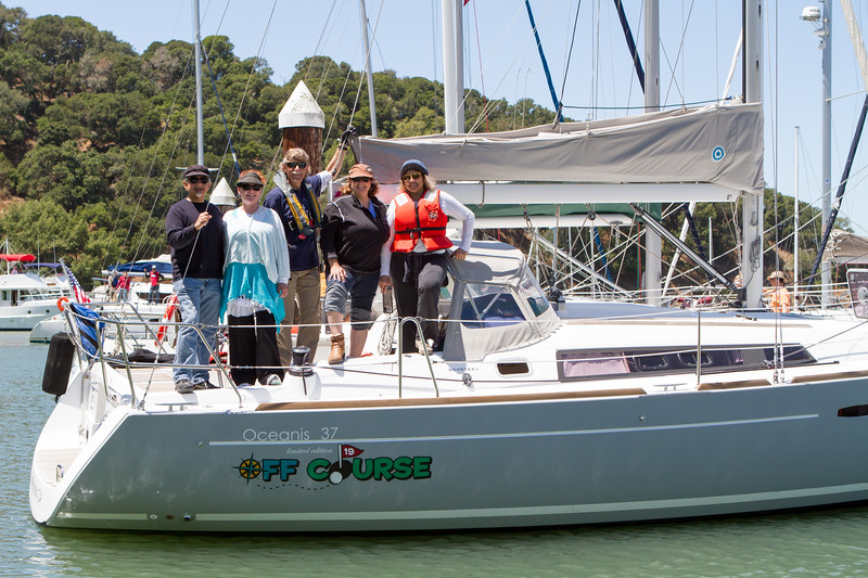 Sailing with Joseph and Bernie Borowitz and friends in the San Francisco Bay. The Borowitz' won the silent auction bid at Afternoon Town in 2013 for an excursion.