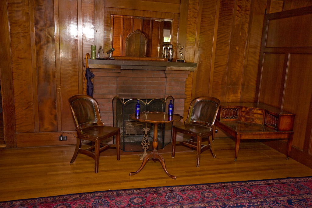 This is in the living room - fireplace area. We'll call it Area B,