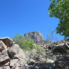 View from bottom o the Chisos Basin