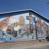 El Paso has some very cool murals scattered around town, mostly in working class areas.  As well as Christian iconography and Jesuit priests, this one also has Pancho Villa, Victor Ochoa and others