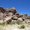 Hueco Tanks. There are pictograph sites in the nooks and crannies of this outcrop