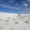 "White Sands National Park, New Mexico. This is a 275 square mile field of gypsum dunes in the Tularosa Basin. It lies inside the 4,000 sq mi White Sands Missile Range, ""an important site for testing experimental weapons and space technology"". Closed to the public when missile tests take place."