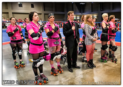 TXRD Texas Roller Derby: Hellcats vs. Holy Rollers at Palmer Event Center, Austin - June 15, 2013