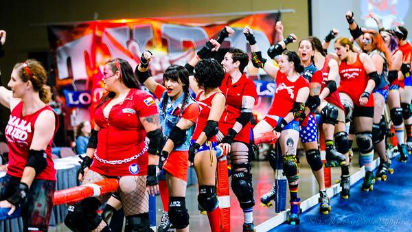 TXRD Playoffs Rhistone Cowgirls vs. Las Putas del Fuego 9/30/2017