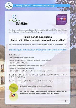 Table Ronde - Fraen zu Schëtter