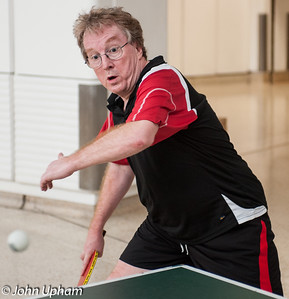 """John Upham (Fleet Cricket Club): """"LOOK I CAN PULL FACES WHILE I PLAY""""   Photo taken by Derek Seager."""
