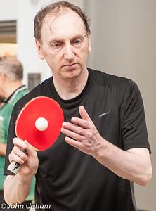John Eade demonstrates foul serving
