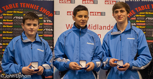 The Brunswick Ashford Junior British League Team: Alex Gillen, Charlie Rahbini and Anthony Egan.