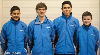 The Brunswick Ashford Junior British League Team: Charlie Rahbini, Anthony Egan, Michael Chan and Alex Gillen