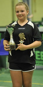 Amy Blagbrough is proud winner of the Division Three Singles.
