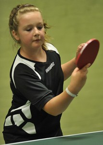 Amy Blagbrough during the Division Three Singles Final.