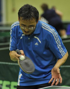Steve Ng (KG) during a tough battle with Alex Garlick.