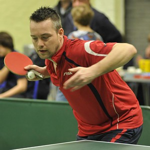Sander de Riemer during his match with Steve Murgatroyd.