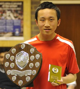 Dominic Ng (KG), winner of the Handicap Singles title, beating Sean Picken in a very close final.