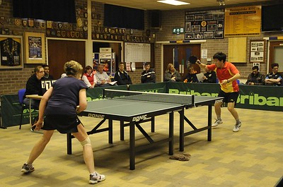 Basingstoke Rugby Club provided an excellent venue for Finals night on April 24th. The first match was the Division Two Singles final between Denise Weller and Kam Pang.