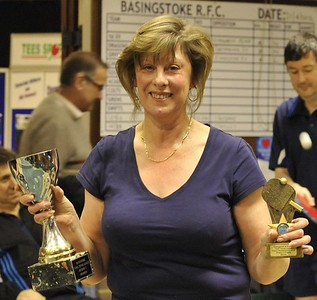 Denise Weller (Minitec), popular winner of the Division Two Singles final.