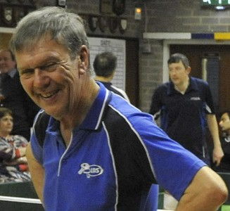 Terry White (Alpha) takes a break during one of the Mens Doubles Semi-Finals.