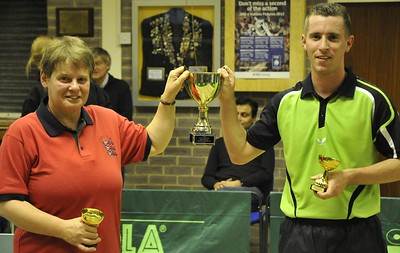 Sarah Whithorn and Patrick Garlick, winners of the Mixed Doubles title.