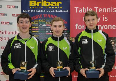 Irish Boys: Division 1 runners-up